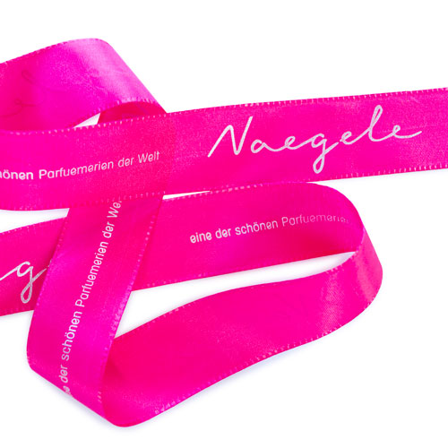 Gift ribbon BA with metallic hot foil print