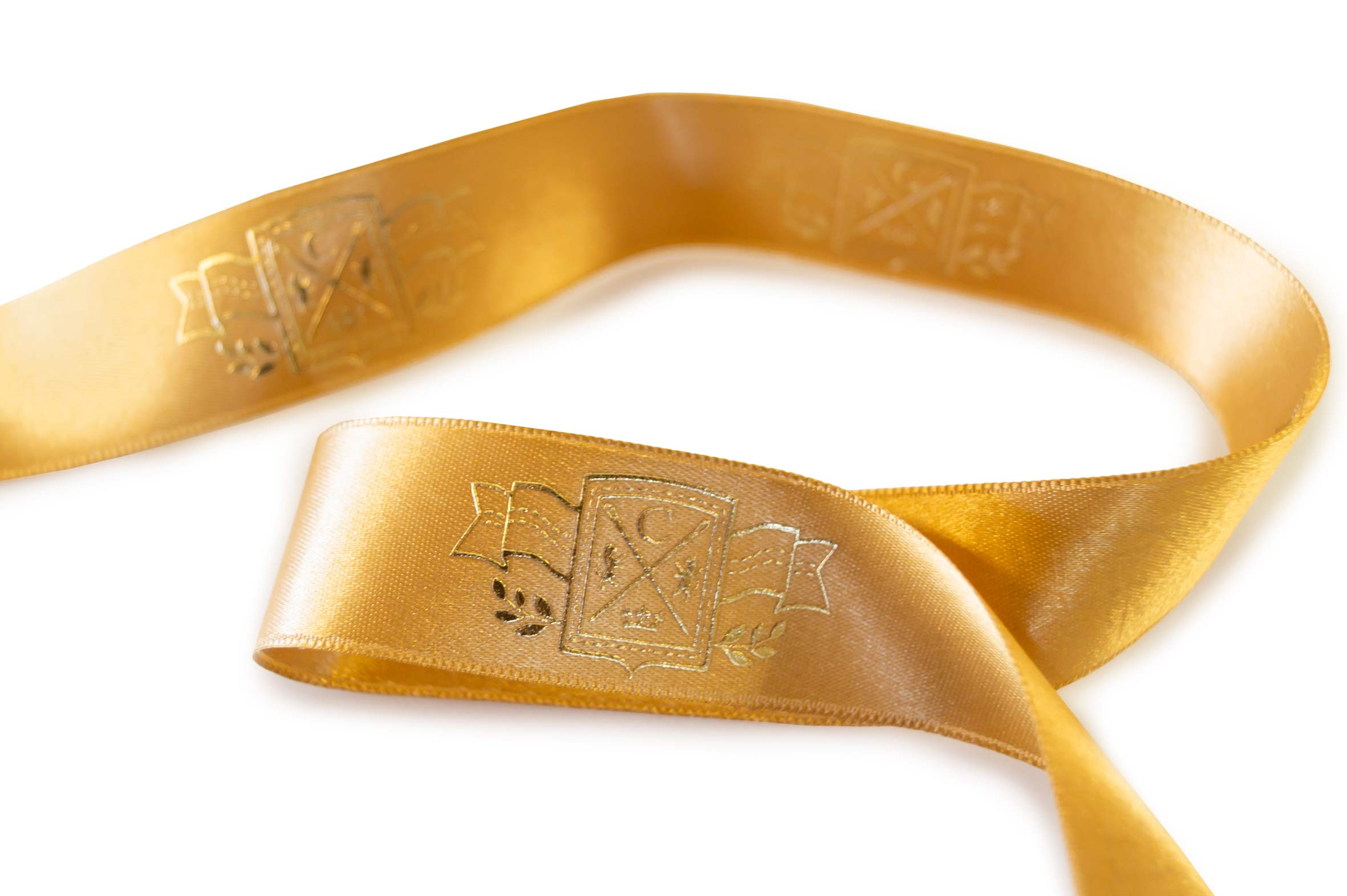 Gift ribbon SO with metallic relief print